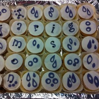 Crossword Cupcakes cupcakes with MMF
