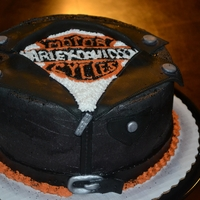 Harley Davidson Cake buttercream and fondant decorations