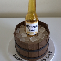 Sugar Beer Bottle Cake All edible except the label.