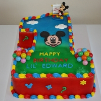 Mickey Mouse Clubhouse 1St Birthday Cake