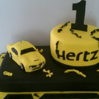 This Was A Corporate Event For Hertz Rental Cars The Car Was Made Out Of Rice Krispies Covered In White Chocolate And Fondant Another One  This was a corporate event for Hertz rental cars. The car was made out of Rice Krispies covered in white chocolate and fondant. Another one...