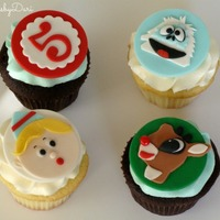 Rudolf The Red Nosed Reindeer Cupcake Toppers   Rudolf the Red-Nosed Reindeer Cupcake Toppers