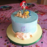 This Cake Was For My Daughters Fifth Birthday I Made Ariel And Flounder Using The Cricut Machine Honestly I Would Have Rather Cut Out A T  This cake was for my daughters fifth birthday. I made Ariel and Flounder using the cricut machine. Honestly, I would have rather cut out a...