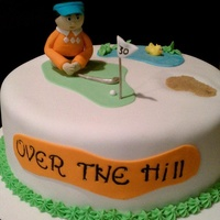 This Was My Second Cake Ever Made And The First Time At Trying To Sculpt A Figurine I Made This For Sweet Husband The Avid Golfer   This was my second cake ever made and the first time at trying to sculpt a figurine. I made this for sweet husband, the avid golfer!