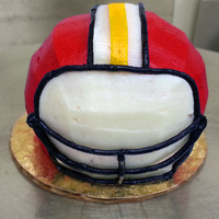 Cupcake Turned Into Football Helmet   cupcake turned into football helmet