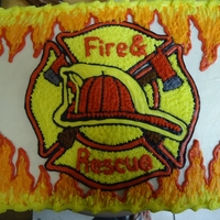Cake For Fire Fighter's Banquet