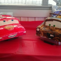 Cars Theme Birthday Cake! Lightening Mqueen and Towmater!