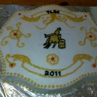 Barrel Racing Buckle Cake Barrel racing buckle cake done for a playday awards ceremony!