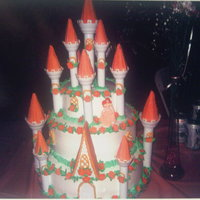 Pink Princess Cake 3 tier cakeDesign for a princess Decorated with sugar flowers Sugar leaves
