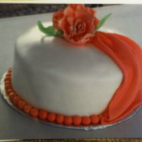 Class Cake Fondant cake Fondant class cake Decorated with fondant and gumpaste flower
