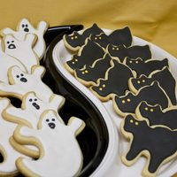 Halloween Cookies These are my very first attempt at Royal Icing on cookies, made them for another halloween gym party, and they were a hit! Packaged a few...