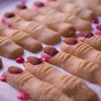 Spooky Witch Fingers I made these for a Halloween Gym Party a few years ago. Basic cookie dough recipe, almonds for the nails and red food colouring icing for...