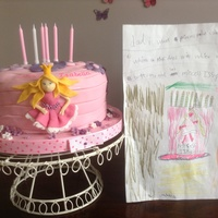My Daughter Has Designed Her 6Th Birthday Cake I Had To Honour And Make It The Best I Could To Match Her Sketch My daughter has designed her 6th birthday cake, I had to honour and make it the best I could to match her sketch .