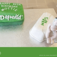 Depends 60Th Birthday  this cake was made for a 60th birthday. the man it was made for actually sells adult diapers! the cakes are inspired by many i've...
