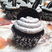 Oreo Cupcake Chocolate Cake w/ Oreo infused Buttercream then topped with another Oreo :)