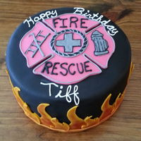 Fire Fighter Birthday Cake