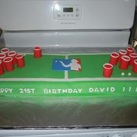 Beer Pong Table Cake Beer Pong Table Themed 21st Birthday Cake. I sold this cake for $60 , I work from home and do not know the firs thing about pricing my...