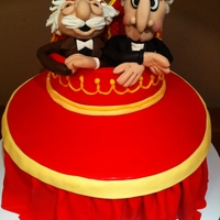 Statler And Waldorf (Muppets) Cake I love these guys! Requested by a client. I had so much fun making this. (I put Happy Birthday in the big space on top of the cake so it...