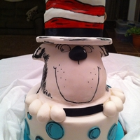 Cat In The Hat Cake Made for a client's baby shower with the Cake in The Hat/Dr. Seuss theme! (I have seen several cakes similar to this so alot of people...
