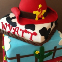 Cowboy Cake I made this cowboy cake for a child's 2nd birthday (the design was sent to me by the client so I don't know who's design it...