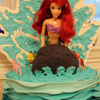 Ariel Cake I Made For My Girls 3Rd Birthday Fondantgum Tex Ombre Ruffles Around Bottom Fondant Covered Rice Krispee Rock On Buttercream Ariel cake I made for my girl's 3rd birthday. Fondant/gum tex ombre ruffles around bottom, fondant covered rice krispee rock on...