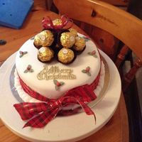 Christmas Cake Made With Fruit Covered With Marzipan And Fondant *Christmas cake made with fruit, covered with marzipan and fondant.