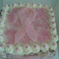 Fund Raiser Cake This cake was made for a charity fund raiser in aid of breast cancer. As a breast cancer survivor this was my contribution!