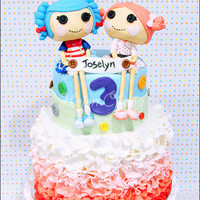 Lalaloopsy Birthday Cake 8 x 6 cake + 2 lalaloopsy decor(I am going to make another lalaloopsy decor for myself ^^)