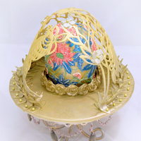 Golden Nest  I used the wonder pan to create the shape of the dome (gum paste). I was originally planning to carve out just the flower patterns for the...