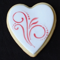 Stenciled Heart Cookies