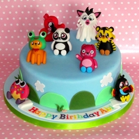 Moshi Monsters Cake  after 6 months off whilst i was finishing my degree, i was finally able to get back into the kitchen this week! vanilla cake with jam and...