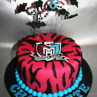 Monster High Cake   Monster High themed cake. Chocolate cake with chocolate buttercream, thanks for looking!