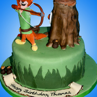 Robin Hood Cake  oo de lally oo de lally golly what a daaaay! :D chocolate cake with chocolate buttercream, tree is RKT's and everything else is...