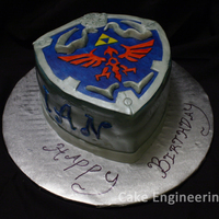 Legend Of Zelda: Hylian Shield I made this cake for my boyfriend who is a huge fan of Legend of Zelda. The cake is chocolate injected with salted caramel sauce, filled...