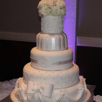 White Diamond Wedding Cake