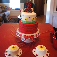 Ladybug Birthday Cake With Smash Cakes Ladybug birthday cake with smash cakes.