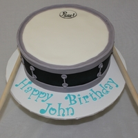 Snare Drum Birthday Cake