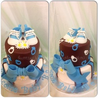 All Chocolate Cake With Smbc And Fondant Decorations All chocolate cake with SMBC and fondant decorations