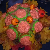 Fall Cupcake Bouquet.. Made this as a thank you gift to someone