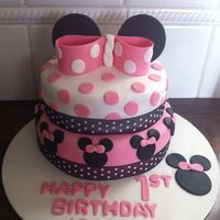 Minnie Mouse Two Tier Cake Minnie Mouse two tier cake