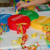 Balloon Cake I made this cake for my nephews 1st birthday. It was designed to match the invatation my sister picked out. I used buttercream icing and...