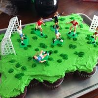 Soccer Cake This was my first cup-cake cake...it was fun to make and eat!!