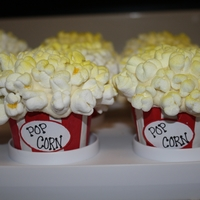 Popcorn Cupcakes  made these for a movie party my daughter was going to. Inspired by CC! My printer ran out of ink at the last minute so I had to write the...