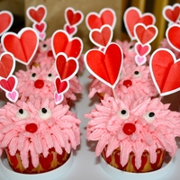 Valentine Cupcakes   Valentine cupcakes I made for the kids. Idea from Wilton.com. They were super cute and yummy!