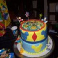 Mickey Mouse Cake This was my very first fondant cake 2 years ago. I used mm fondant. as you can see I had lots of imperfections on the fondant but this was...