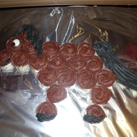 Simple Horse Cake Horse cake made up of 24 fairy cakes. Happy to accept constructive criticism.
