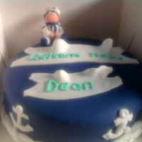 Sailor/nautical Cake