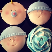 Baby Shower Or Christening Cupcakes Made for my friends baby shower