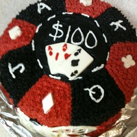 Giant Poker Chip I did this for a friends birthday since she loves to play poker and was headed on vacation to Las Vegas. I'm not a fan of fondant so I...