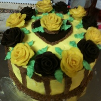 Pretty Roses I did this cake for my Aunt's 94th Birthday who is a chocoholic. The cake is chocolate with a chocolate ganache filling, chocolate and...